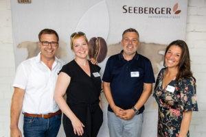 Die Gastgeber (v.l.n.r.): Eric Schneider (Restaurant Erftaue), Nicole Barendt-Ley (Top Magazin), Josef Hamzek (Reitsportzentrum Hamzek), Nora Wisbert (Top Magazin)