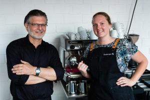 Das Team der Firma Seeberger um Aktham Zahran verwöhnte die Gäste mit Kaffee und Eistee-Spezialitäten